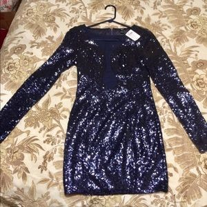 Windsor sequin navy blue dress